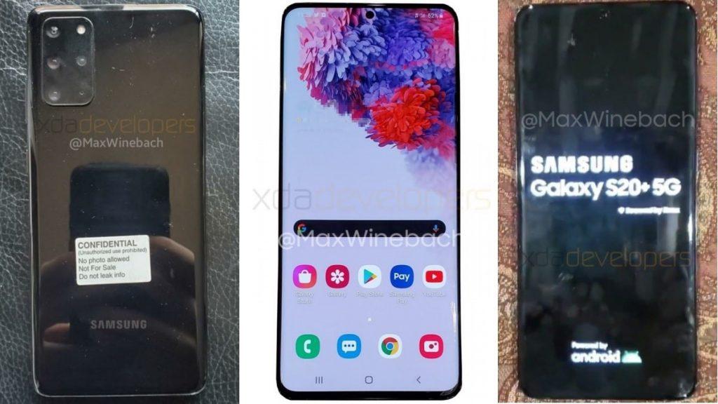 В сети появились фото будущего флагмана Samsung Galaxy S20+ 5G