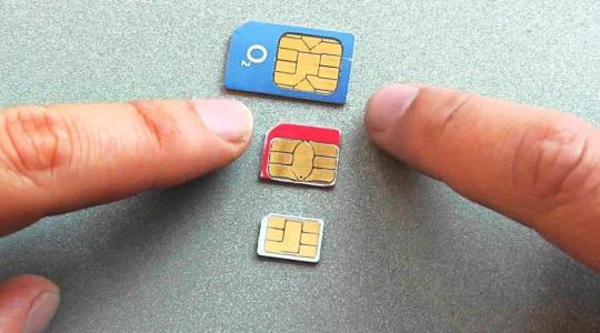 Типы сим-карт для телефона
